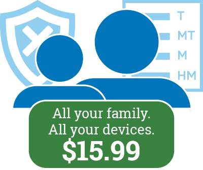 Family Pricing is Available for just $15.99 per month!