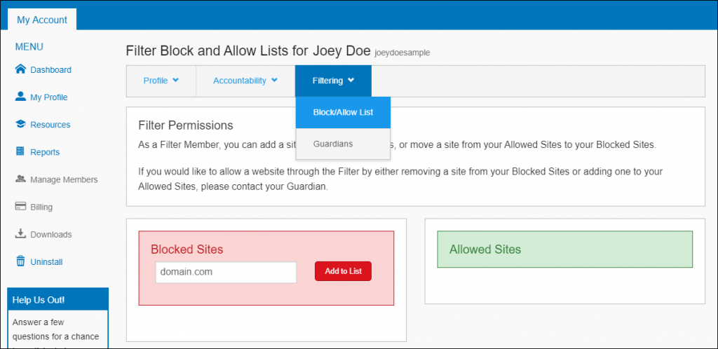 block website permanently windows 7