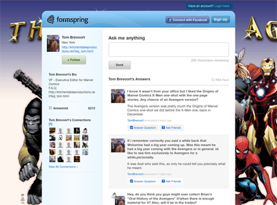 Anything format of talking about this formspring, a new domain. formspring