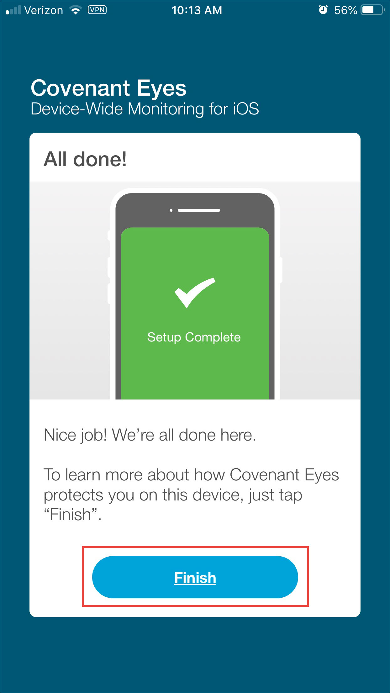 How do i install the covenant eyes browser on iphone, ipod touch.
