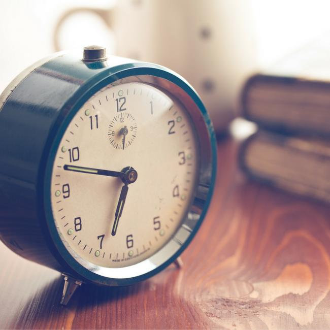clock on nightstand