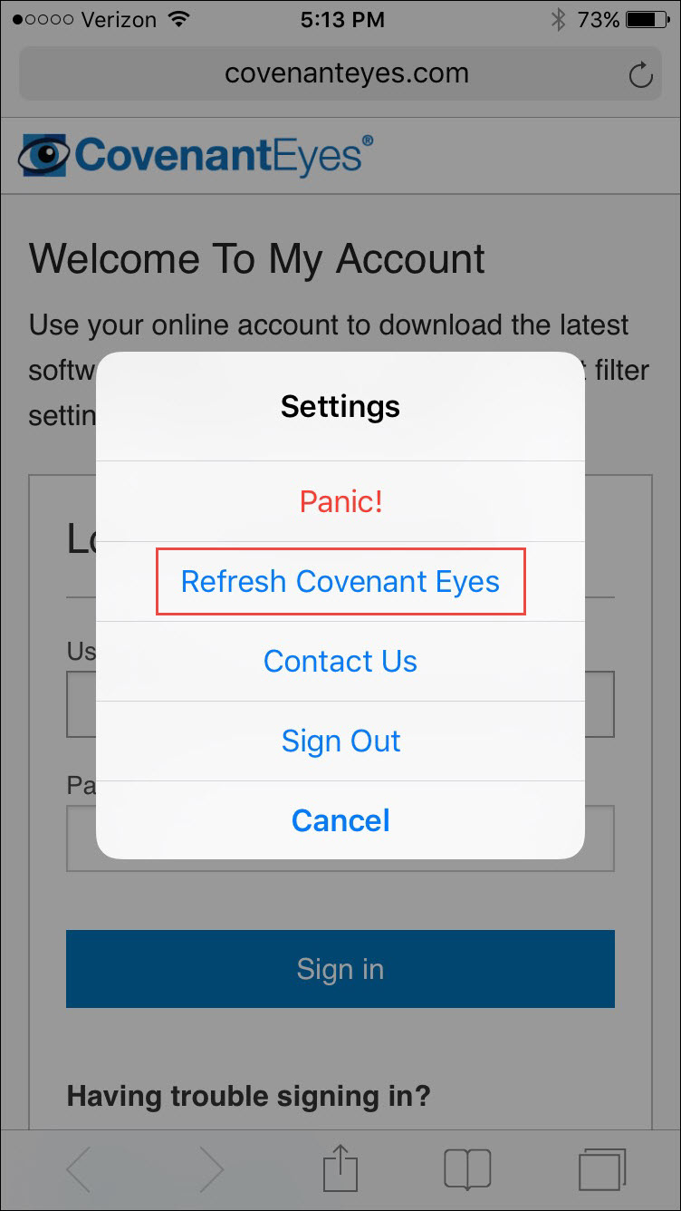 Phone Refresh Android Phone how do i refresh the covenant eyes software refreshing on tablets and phones