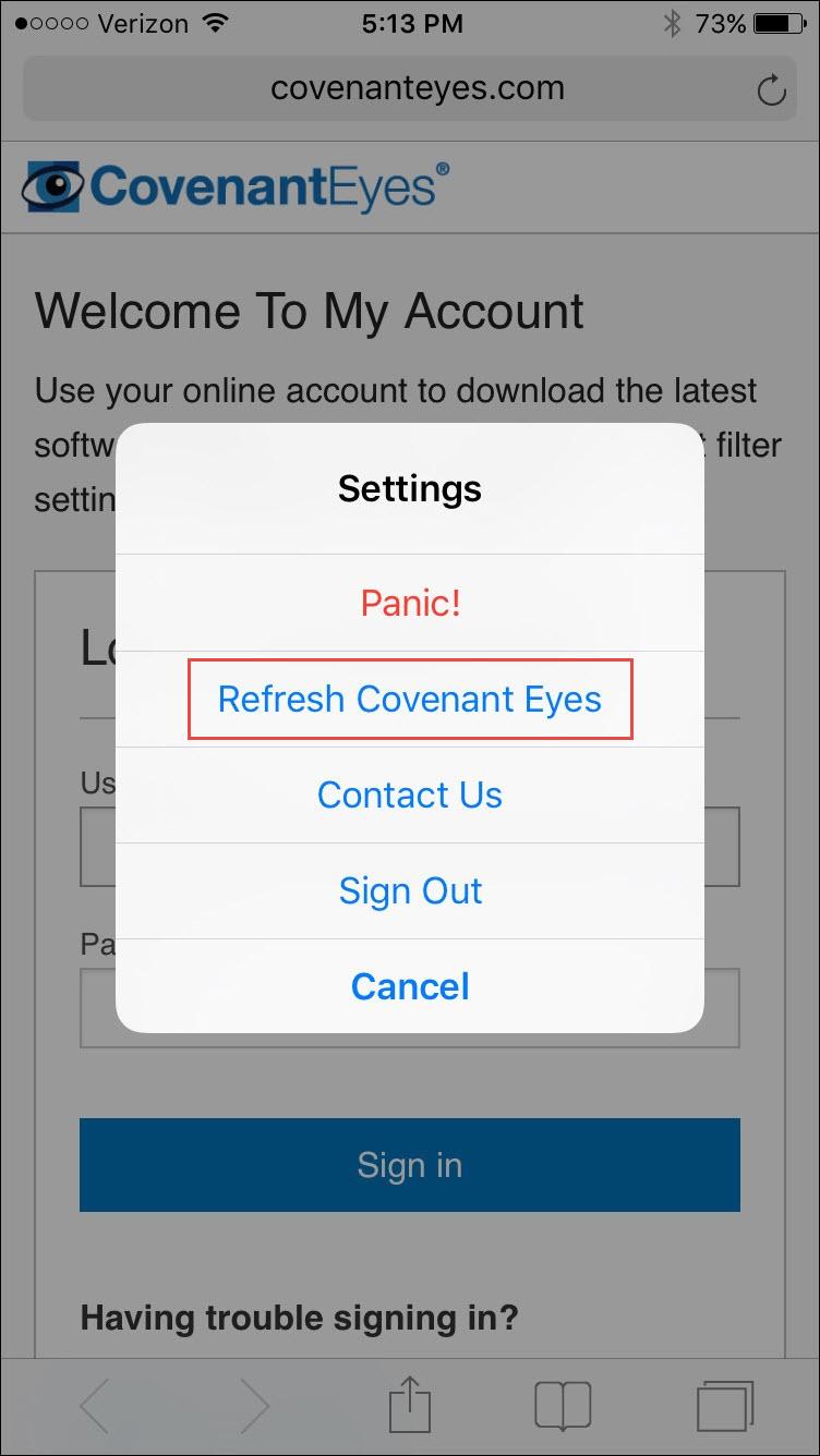 Covenant Eyes Iphone App