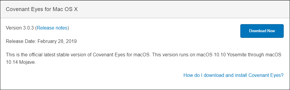 How do I download and install Covenant Eyes on Mac?
