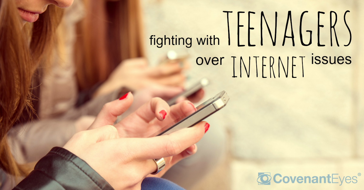 Fighting with teenagers over Internet issues