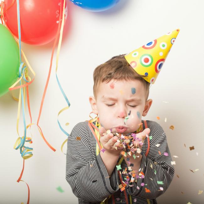 kid celebrating