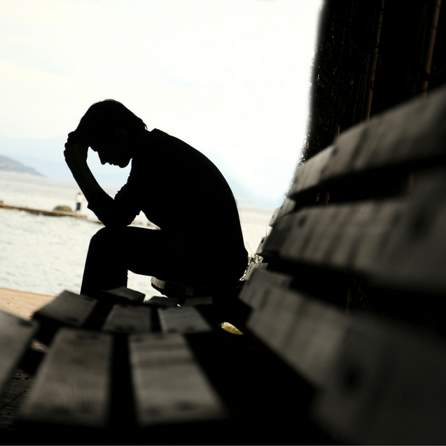 man praying through guilt