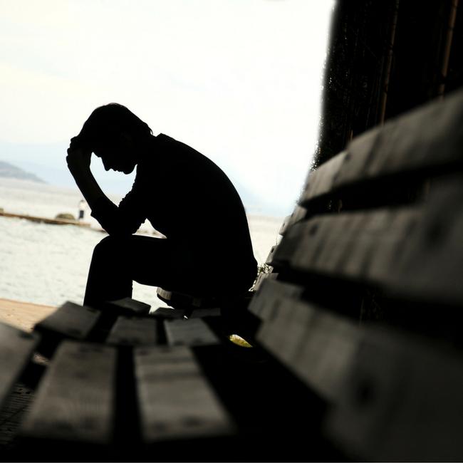 man praying through guilt