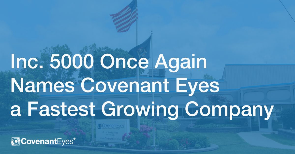 Inc. 5000 once again names covenant eyes a fastest growing company