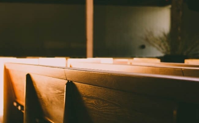 empty pews at a church