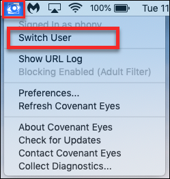 How do I use Covenant Eyes on a shared device?
